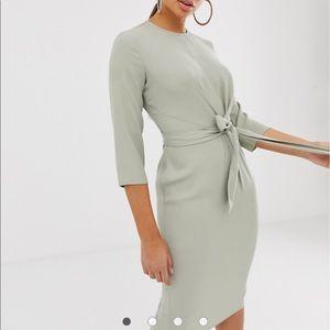 ASOS Tie Wrap Around Midi Dress NWOT